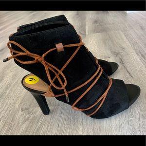 Franco Sarto Open Toe Booties size 9